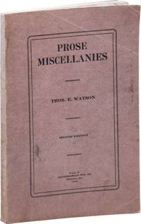 Prose Miscellanies. Second Edition