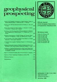 Geophysical Prospecting Volume 34 Number 7 November 1986