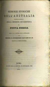 Memorie storiche dell'Australia, particolarmente della Missione Benedettina di Nuova Norcia e degli usi e costumi degli Australiani