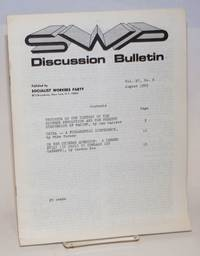 Discussion bulletin vol. 27, no. 8 (August 1969) by Socialist Workers Party - 1969 - from Bolerium Books Inc., ABAA/ILAB (SKU: 146477)