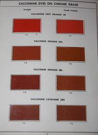 Dyes for Chrome Tanned Grain Calf Leather.  Cyanamid.