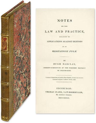 1832. Edinburgh, 1832. Only ed.. Edinburgh, 1832. Only ed. An Interesting Aspect of the Scottish Law...