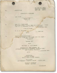 image of Madame Spy (Original post-production script for the 1934 film)