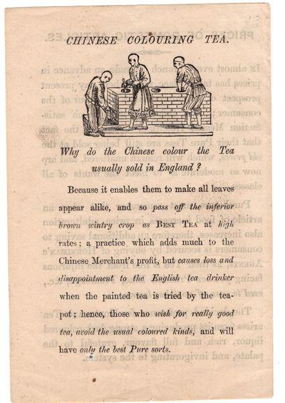 London: Horniman's Tea , 1890. Leaflet. Very good. Small 4