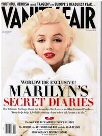VANITY FAIR NOVEMBER 2010: MARILYN MONROE'S DIARIES