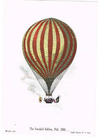 "[BALLOONING]: A LOT OF 4 BRIGHT HAND-COLORED LITHOGRAPHS DEPICTING NINETEENTH CENTURY BALLOONING: ""DESCENT NEAR PHILADELPHIA, PHIL., 1850""; ""THE VAUXHALL BALLOON, PHIL., 1850""; ""DESCENT NEAR EASTON, PENNSYLVANIA""; AND 'MR. COCKING'S PARACHUTE, PHIL., 1850"""
