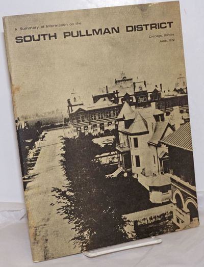 Chicago: Historic Pullman Center, 1974. Pamphlet. 44p., wraps, plans, illustrations, 8.5x11 inches, ...