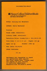 image of Calling All Monsters [COLLECTIBLE UNCORRECTED PROOF COPY]