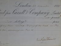 """image of Publisher's Receipt Signed -- for """"A Song of the Road"""""""