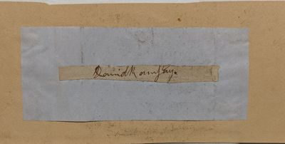 very good. Scarce full signature on a slip of paper