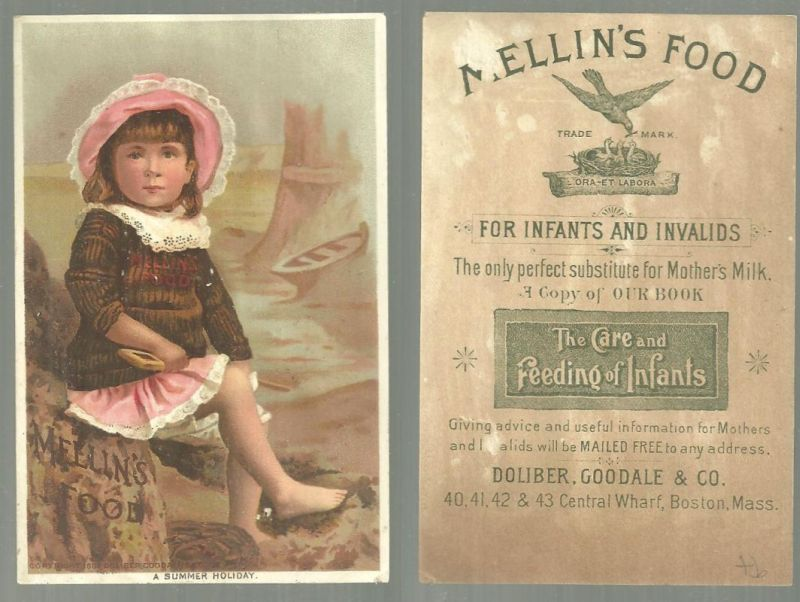 ADVERTISEMENT - Victorian Trade Card for Mellin's Food, a Summer Holiday