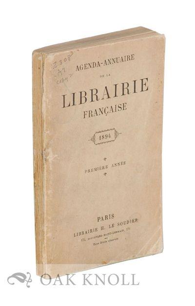 Paris, France: H. Le Soudier, 1894. original stiff paper wrappers. 16mo. original stiff paper wrappe...