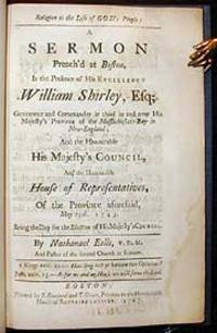 Religion is the life of God's people: a sermon preached at Boston, in the presence of His Excellency William Shirley, Esq; Governour and Commander in chief in and over His Majesty's Province of the Massachusetts-Bay in New-England; and the Honourable His Majesty's Council, and the Honourable House of Representatives, of the Province aforesaid, May 25th. 1743. Being the day for the election of His Majesty's Council.