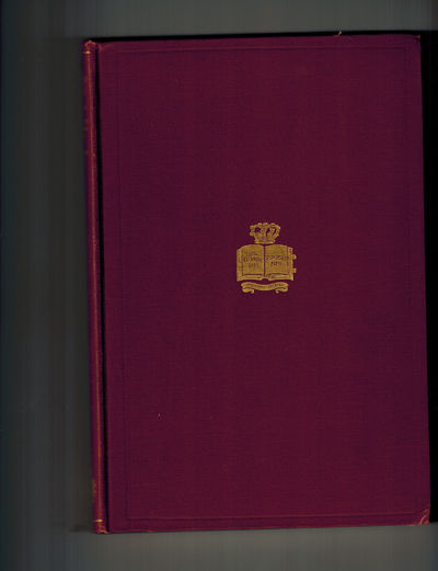 New York: Columbia University Press, 1912. Very Good Plus in original red cloth, gilt lettering and ...