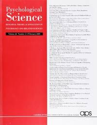 image of Psychological Science (Volume 20, Number 2, February 2009)