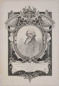 Isaiah Thomas Esq, Printer Worcester Massachusetts, President of the American Antiquarian Society and author of the History of printing.  Engraved portrait