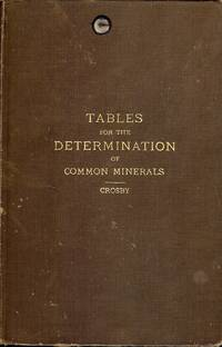 TABLES FOR THE DETERMINATION OF COMMON MINERALS