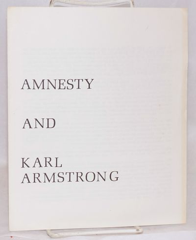 San Francisco: Campaign for Amnesty, 1973. Four-panel brochure, 7x8.5 inches, very good. Article rep...