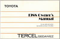 image of 1988 Owner's Manual Tercel Sedan/ez