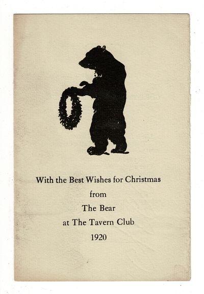 , 1920. Bifolium keepsake, 6.5