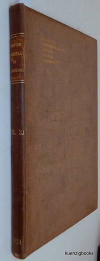 The British Journal of Radiology (Rontgen [ Roentgen ] Society Section) Volume XX, 1924