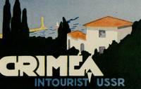 Crimea in Tourist USSR.  [LUGGAGE LABEL]
