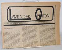 image of Lavender Opinion: vol. 1, #7, October 1974: Bars & The Outrage