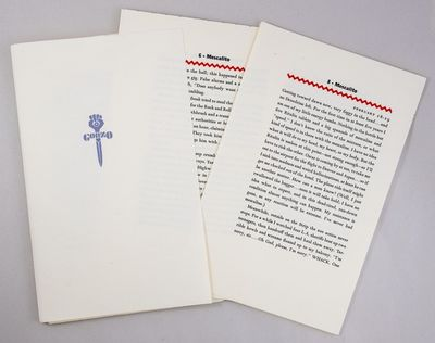 Santa Barbara: Neville. 1991. Thompson's first limited edition: a collection of three short pieces, ...