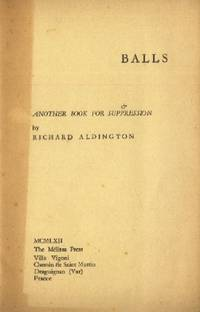 Balls, & Another Book for Suppression