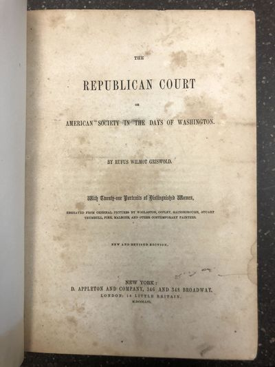 New York: D. Appleton and Company, 1856. Revised Edition. Hardcover. Quarto, 490 pages; VG-; paneled...
