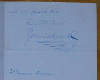 Autograph Letter Signed, to composer Mr. Francesco Berger.