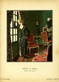 Tete a tete; Robe, de Beer. Print from the Gazette du Bon Ton