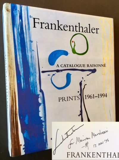 New York: Harry N. Abrams, 1996. Cloth. Fine/Fine. SIGNED BY HELEN FRANKENTHALER on the tile page. A...