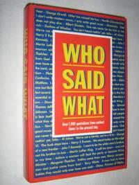 Who Said What