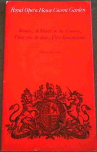 Programme: Royal Opera House Covent Garden : Rituals, A Month in the Country, Thais pas de deux, Elite Syncopations - Friday 9 July 1976