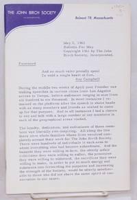 image of John Birch Society bulletin for May, 1961