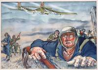 Archive of Original Paintings, Sketches, and Cartoons by a Talented World War II Combat Artist