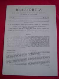 PHYLOGENETIC CLASSIFICATION OF THE HALICHONDRIDS (PORIFERA DEMOSPONGIAE) (Beaufortia Vol. 40, no. 2)