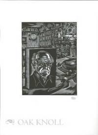 Peterborough, NH: Robert Hauser, n.d.. broadside, 10 3/4 by 14 3/4 inches. Self portrait print by Jo...