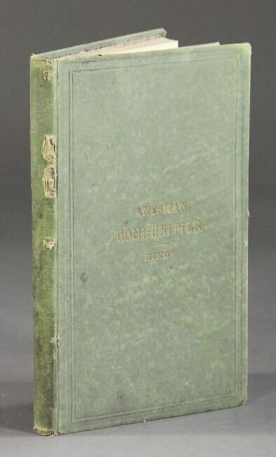 Oneida, N.Y.: Office of the American Socialist, 1878. 8vo, pp. , 176; frontispiece, repeated at p. 8...