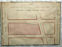 Two original 1848 manuscript real estate maps detailing the plots owned by Jacob Harsen`s estate....