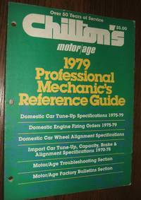 image of Chilton's Motor Age 1979 Professional Mechanic's Reference Guide