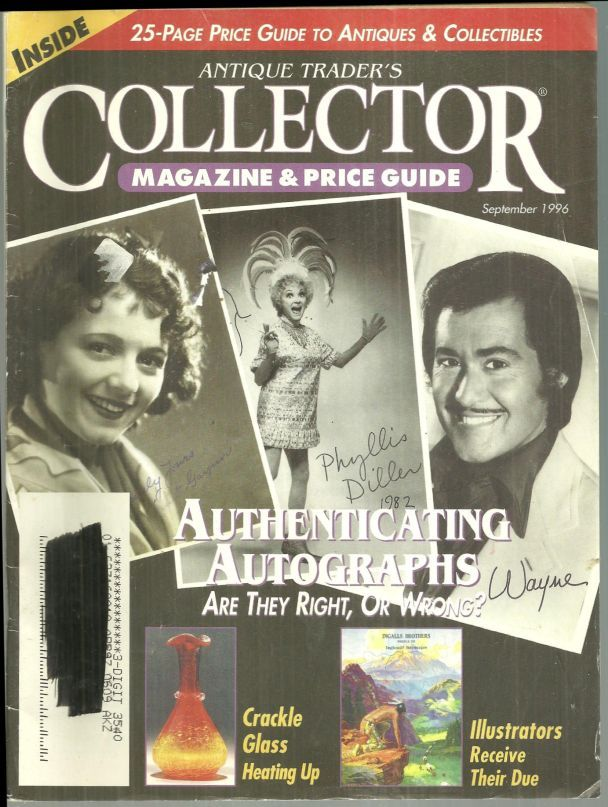 Image for ANTIQUE TRADER'S COLLECTOR MAGAZINE AND PRICE GUIDE SEPTEMBER 1996