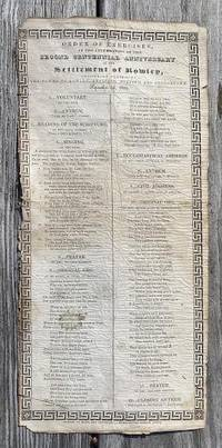 ROWLEY, Mass., Bicentennial Broadside. Newburyport: printed by Morss and Brewster, [1839]. by  author & politician) and others  lawyer - 1839 - from The John Bale Books LLC (SKU: ABAA-VBF-B30)