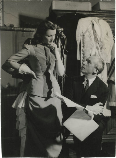 N.p.: N.p., 1948. Vintage double-weight borderless photograph from the set of the 1948 film, showing...