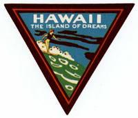 Hawaii.  The Island of Dreams.  [LUGGAGE LABEL]
