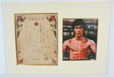 Bruce Lee Signed Document Promoting Herb Jackson to First Rank of the Jun Fan Gung Fu Institute A su...