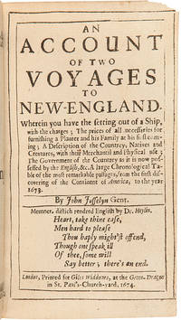 An Account of Two Voyages to New England