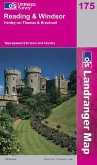 image of Reading and Windsor, Henley-on-Thames and Bracknell (Landranger Maps)