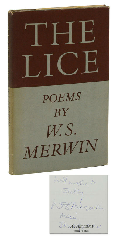 New York: Atheneum, 1967. First Edition. First edition. Inscribed by Merwin to former owner, signed ...
